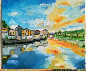 Down at the river Oil on canvas 35*50