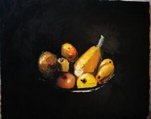 Studio oil on canvas 30x45